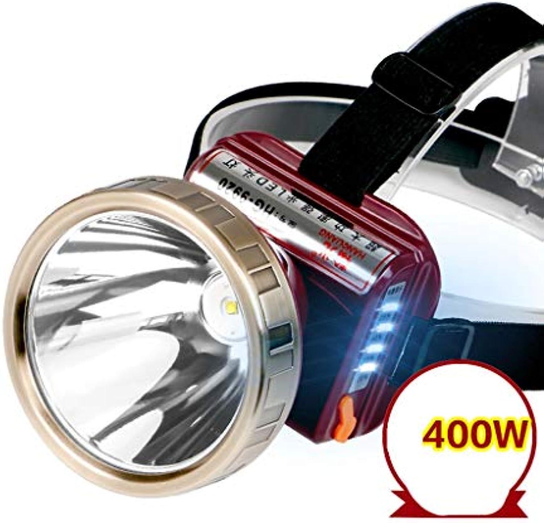 TMY KOPFLAMPE LED-Scheinwerfer Blendung Wiederaufladbare, super helle, Wasserdichte Taschenlampe zum Nachtangeln