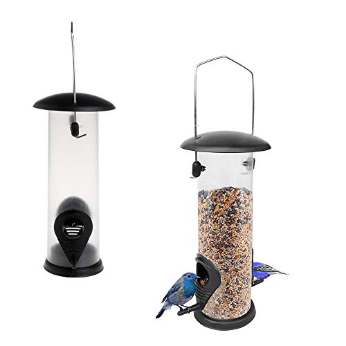 Kungfu Mall 2PCS Bird Feeders Hanging Wild Garden Bird Seed Feeder Hanging Feeders for Small Birds Garden Outdoors Feeding