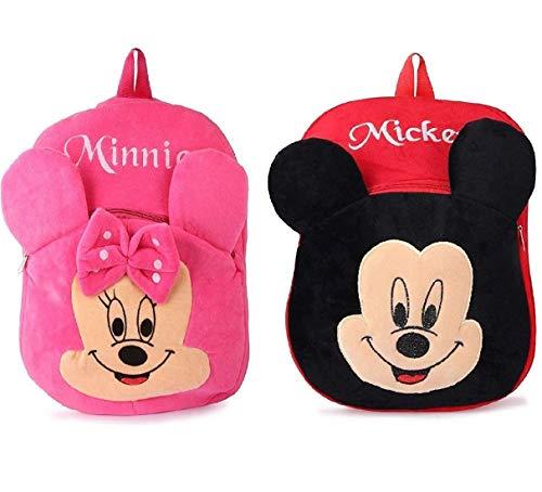 Moroses Mickey-Minnie Combo bagpacks, Kids Bag , Plush Bags , School Bags for Kid Girl/boy