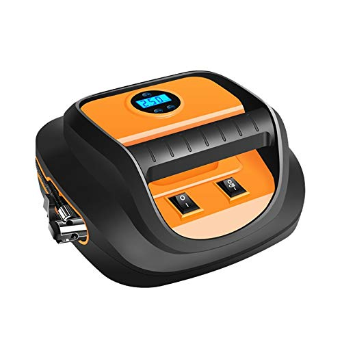 TWDYC Bomba de Aire de Coche portátil 12V Inflador rápido de neumáticos de automóvil Mini Auto eléctrico para Coche Compresor de Aire con Pantalla Digital LED