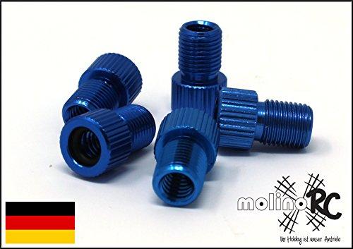 molinoRC 3er Set Ventiladapter | Fahrrad Adapter ** BRD ** von Fahrradventil (Sclaverandventil oder Dunlopventil) auf KFZ/Autoventil (Schraderventil) | inkl. Dichtring | Ventil | Rad | deutsche Marke