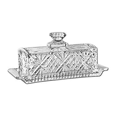 James Scott Crystal Covered Butter Dish