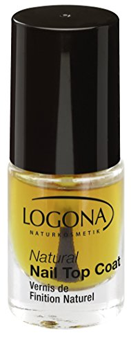 Logona Natuurlijke cosmetica Natural Nail Top Coat, overlak voor nagellak, natuurlijke ingrediënten, 4 ml