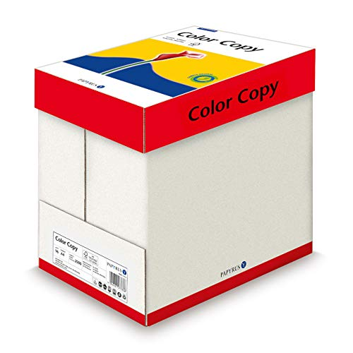 Papyrus 88007863 Farblaser-/Kopierpapier ColorCopy 90 g/m² DIN-A4, 5x500 Blatt, hochweiß, hochglatt