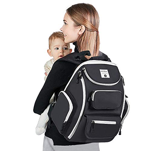 Baby Changing Bag Backpack Waterproof with Changing Mat and Insulation...