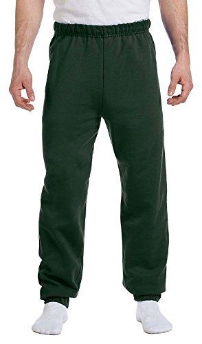 Jerzees Men's Elastic Waist And Bottom Leg Fleece Sweatpant_Forest Green_Large