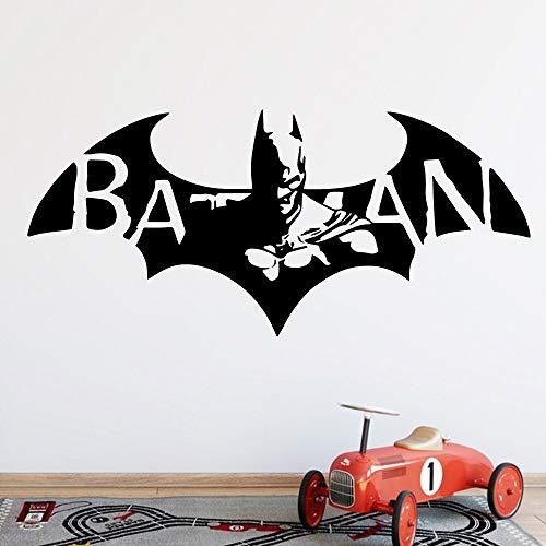 Dibujos animados creativos Hollywood película alas de murciélago superhéroe hombre calcomanía habitación de niños dormitorio decoración del hogar vinilo pared pegatina arte mural cartel
