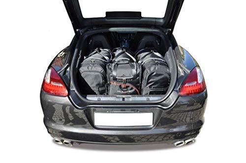 KJUST Kofferraumtaschen 4 STK Set kompatibel mit Porsche Panamera I 2010 - 2016