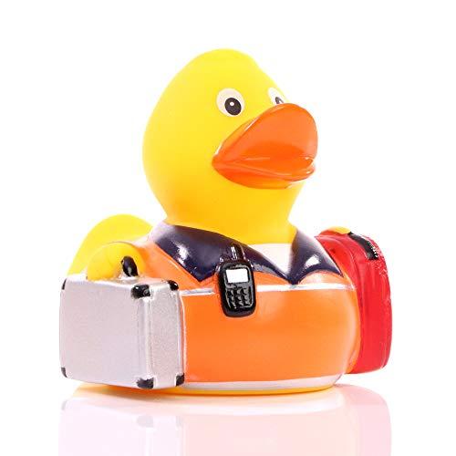 Schnabels Badeente Rettungssanitäter - Geschenk für Rettungsdienst Malteser Rotes-Kreuz Medizin Sanitäter - lustig originell Glücksbringer - Spielzeug Quietsche-Ente Deko-Artikel Badewanne