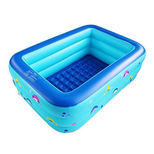 DFSDG 150x110x50cm piscina inflable de la familia sobre el suelo piscina niño adulto niños azul jardín al aire libre juego piscina cubierta piscine