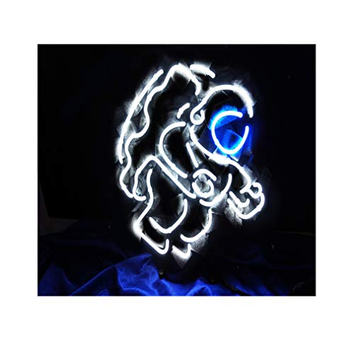 Astronauten Neonlicht für Zuhause, Schlafzimmer, Schule,Pub,Geburtstagsgeschenk 38CM×33CM