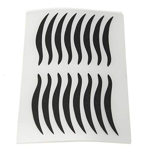 Delighted 80 Pairs Black Eyeliner Double Eyelid sticker Eye Liner Temporary Tattoo
