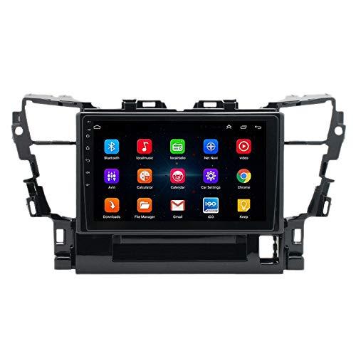 Nrpfell Reproductor MP5 para Coche con Android 10 HD de 10 Pulgadas Radio EstéReo 2 + 16GB WiFi NavegacióN GPS para Alphard 2014-2018