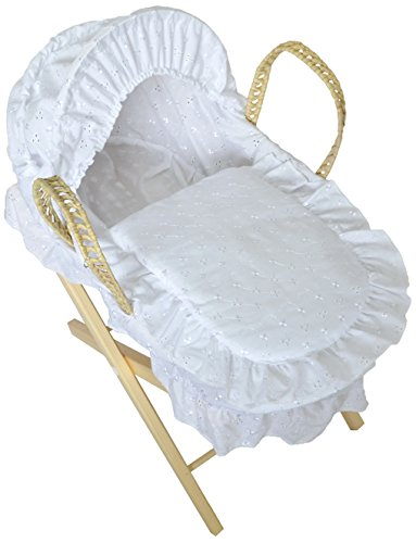 Cuddles Colección Muñecas Moses Cesta con Soporte (Blanco)