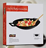 Zoom IMG-1 kichly padella wok in ghisa