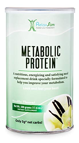 "RelaxSlim Meal Replacement Whey Protein Shakes, Natural Aid for a ""Slow Metabolism"" with Ingredients to Suppress Appetite and Start of Your Day Burning Fat- Great Taste and Very Filling (Vanilla)"