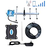 Verizon Cell Phone Signal Booster 4G LTE Band13 700Mhz Cell Signal Booster Verizon Cell Phone Signal Amplifier Repeater Verizon Mobile Phone Signal Booster Phonelex with Whip+Yagi Antenna Kit For Home