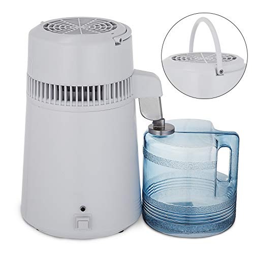 BuoQua 4L Wasserdestilliergerät Wasserfilter 750W Profi Wasserdestillierer Innenteil aus Edelstahl Tragbar Wasser Destilliergerät mit Sammelkanne