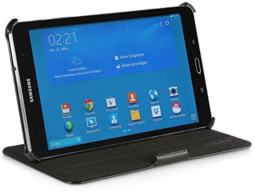 StilGut UltraSlim Hülle V2, Tasche mit Stand- & Präsentationsfunktion kompatibel mit Samsung Galaxy TabPRO 8.4, schwarz Vintage