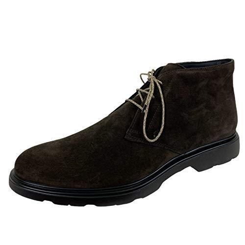 scarpe uomo modello hogan Hogan E17 Polacchino Uomo H393 Derby Suede Brown Shoes Men [9]