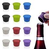 Tapones de Vino Silicona, Una Buena Hermeticidad Puede Prevenir Fugas Y Prolongar La Vida del Vino (12 piezas)