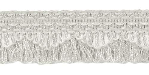 DecoPro décoratifs Blanc festonné Boucle Frange/Tresse, 4 cm, Style # 9115 Couleur : A1 (A01) (Vendu par la Cour (0,9 m = 91 cm/0,9 m/91,4 cm)