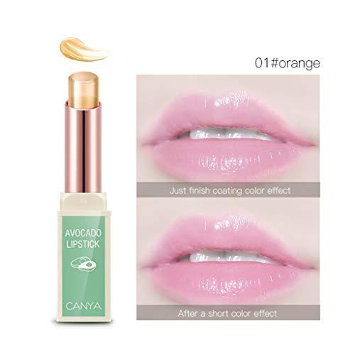 MERICAL CANYA Transparent Jelly Fruit Rouge à lèvres Color Change Waterproof 3 Coloris