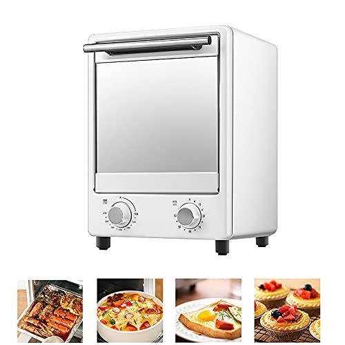 N / E Mini Horno eléctrico de convección, Temporizador de tostadora Vertical para panadería, 12 l, máquina para Hornear Pan, Pizza, Pastel, Control de Temperatura, Temporizador de 60 Minutos