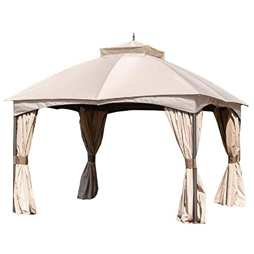 Garden Winds Replacement Canopy Top Cover for Turnberry Gazebo - RipLock 350