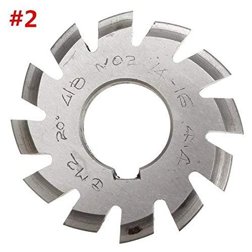 ExcLent Modul 2 Durchmesser 22Mm 20Grad #1-8 Hss Involute Zahnradfräser - #2