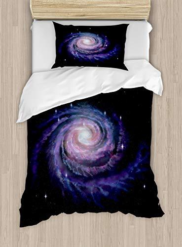 ABAKUHAUS Galaxia Funda Nórdica, Galaxy Polvo Celeste, Decorativo 2 Piezas con 1 Funda de Almohada,...