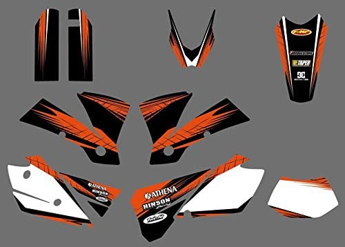 KINWAT 0431 Power Challenge the lowest price Team Graphics Decals Backgrounds for EXC 125 Discount mail order
