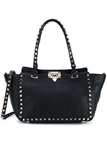 Luxury Fashion | Valentino Dames RW2B0037VSF0NO Zwart Leer Handtassen | Lente-zomer 20