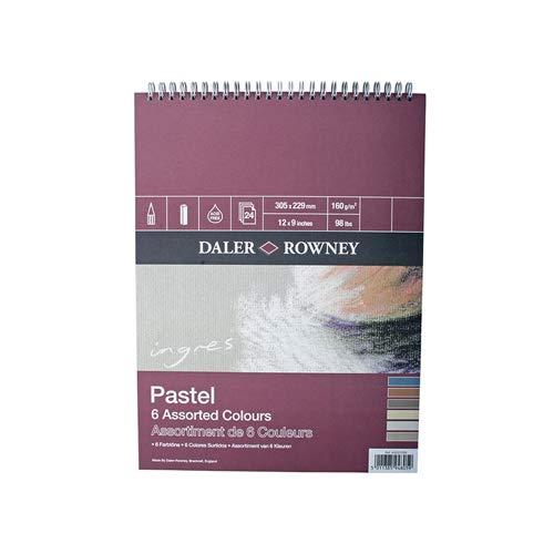 Álbum Espiral Ideal para Pastel DALER ROWNEY Ingres, de Formato 31 x 41 cm, con 24 Hojas de Papel de 160 g/m2 de Grano Texturado
