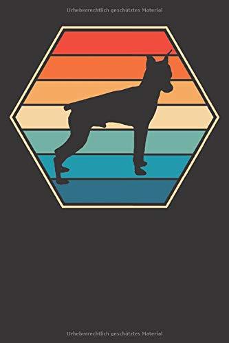 Mini Pincher Notizbuch: Mini Pincher Hund Retro 6x9 Notizbuch 120 Seiten liniert