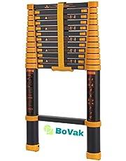 BoVak Multifunctionele Aluminium Telescoopladder PRO Max 4.1 meter - Extra Veilig - Voorzien van Antislip Treden en Soft Close Beveiliging - Gratis Handige Opbergtas