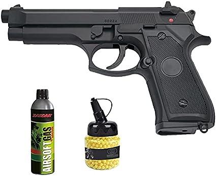 Pistola Y&P G104N M-92F Gas (6mm) | Arma de Airsoft Calibre 6mm Tipo Beretta semiautomática