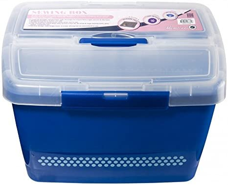 Special sale item Hemline Plastic Caddy Craft Storage - Dedication Navy Box Blue each