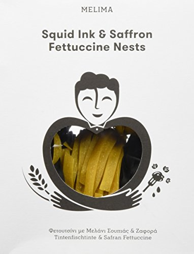 Melima Tintenfischtinte und Safran Fettuccini Nester Nudeln, 1er Pack (1 x 250 g)