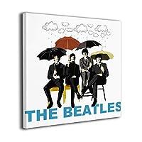 The Beatles キャンバス絵画 正方形 アートパネル 玄関 インテリア ポスター モダン 壁掛け 壁飾り 木枠付きの完成品 部屋飾り 新築お祝い