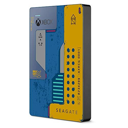 Seagate Game Drive para Xbox, Disco duro externo de 2 TB, HDD portátil, USB 3.0, CyberPunk 2077 Special Edition, Diseñado para Xbox One y 2 años de servicios Rescue (STEA2000428)