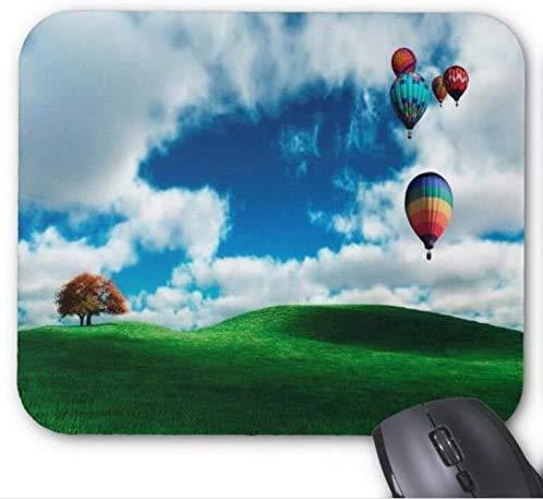 Mousepad Schöne Luftballons fliegen auf Big Grassland Print Mouse Mat
