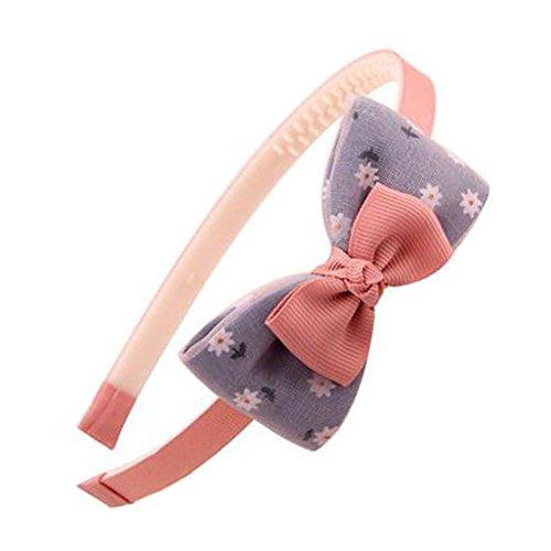 Girls Sweet Hairband Hair Band Accessoires Coiffure Avec Bow-nœud, Rose