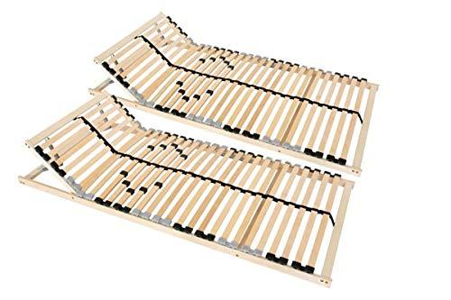 Coemo 2 x Lattenrost Ergo 80x200 cm 7-Zonen verstellbar