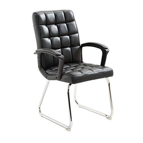 Chaise de bureau en similicuir haute résilience coussin en éponge ordinateur personnel à la maison réunion du siège des étudiants pour discuter du dossier chaise/noir/charge maximale 150 kg