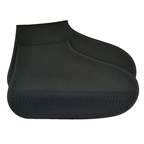 Healifty couvre-chaussures en silicone couvre-chaussures (noir l)
