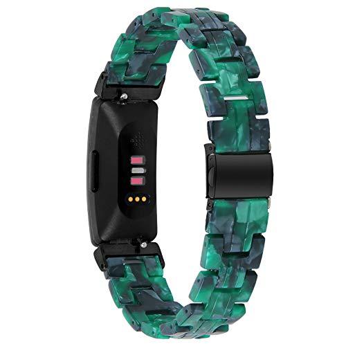 Miya System Ltd Bracciale Inspire, Cinturino di Ricambio in Resina Moda Fibbia in Metallo Bracciale Fitness Intelligente da Donna Cinturino per Inspire/Inspire HR/Ace 2 (M7)