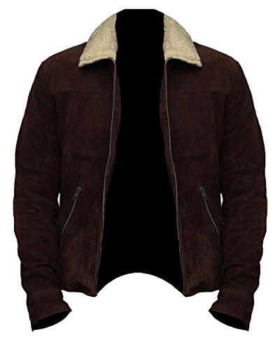 The Walking Dead Rick Grimes - Chaqueta de Piel de Ante marrón (Talla M), Color marrón