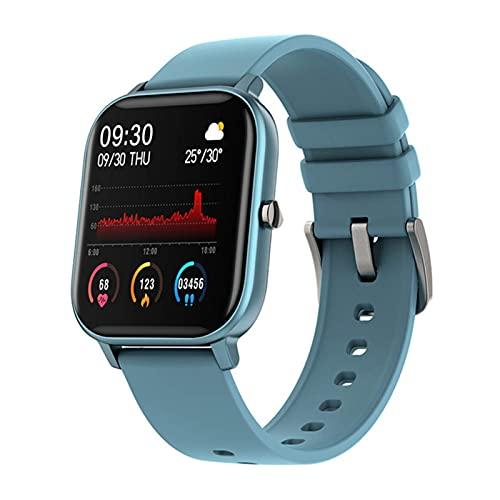 Hombres Touch Fitns Fitns Blood Prsure Rasura del corazón Reloj de monitoreo Mujeres para Xiaomi Teléfono GTS (Color: Gris) DAKSL (Color : Blue)