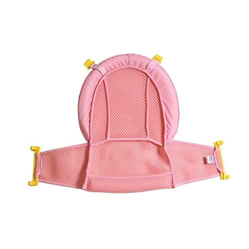 Cojín de baño de bebé cojín de baño para bebés recién nacidos con red de apoyo flotante suave almohada de baño antideslizante para recién nacidos, cojín ajustable y cómodo